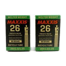 x2 Maxxis Welter Weight 26 x 1.00 / 1.25 VTT Vélo Presta Chambre à Air - 86g