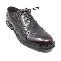 Men's Steve Madden Dannor Oxfords Shoe Size 12 M Burgundy Distressed Leather T12