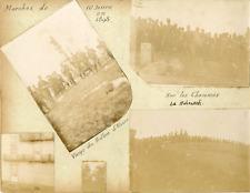 France, marches militaires dans les Vosges Vintage silver print Tirage argenti