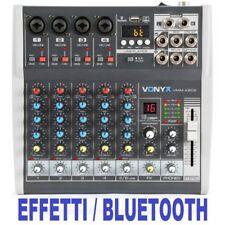 (ricondizionato) Vonyx Vmm-k602 Music Mixer 6 Canali Bluetooth Usb-audio-interfa