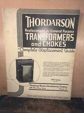 1934 Vintage THORDARSON TRANSFORMER & CHOKES CATALOG.