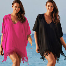 New Ladies Womens Summer Beach Short Sleeve Baggy Mini Dress Top Plus Size L-3XL