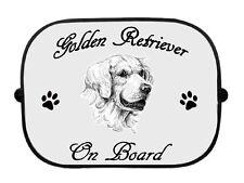 x1 Golden Retriever Printed Dog Design Car Window Sun Shade by paws2print