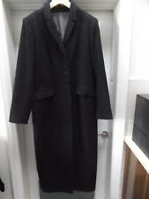 Full-Length Grey single breasted slim fitted wool mix Coat Long jacket Smart tal