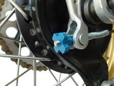 NEW CNC Billet Aluminum Rear Drum Brake Adjuster - Vintage Yamaha YZ - Blue