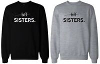 Cute BFF Sisters Best Friend Matching Black and Grey Sweatshirts