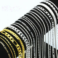 5PCS Lots 925 Silver Sterling Necklace 16-30'' Women Men Fashion Jewelry
