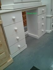 HANDMADE CAMBRIDGE 8 DRAWER DOUBLE DRESSING TABLE NO FLAT PACKS