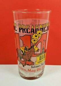 1989 Preakness Stakes 114th Pimlico Souvenir Glass Triple Crown Horse Racing
