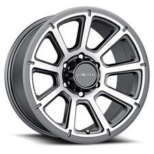 """16"""" Vision 353 Turbine Gunmetal Machined Wheel 16x8 5x4.5 0mm Ford Jeep 5 Lug"""