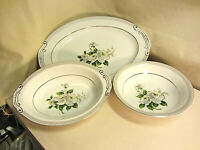 Vintage White Rose China Large Platter, Serving Dish, Serving Bowl -Pattern 3939