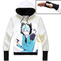 Anime SERVAMP Kuro Unisex Hoodie Cosplay Coat Pullover Sweatshirt#R-ZE60