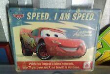 Cars 95 Disney Lightning McQueen I am Speed Distressed Metal Tin Sign State Farm