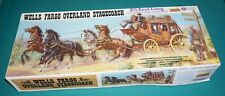 Wells Fargo Overland Stagecoach 1/16 Lindberg Complete & Unstarted.