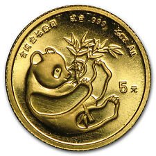 Random Year 1/20 oz Gold Chinese Panda Coin Not Sealed Brilliant Uncirculated