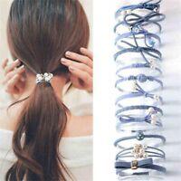 Ponytail Holder Girls Elastic Bowknot Hair Ropes Women Hairband Rubber Band