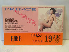 Prince Concert Ticket Stub 8-19-1988 Rotterdam - Rare