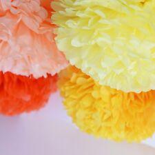Paper pom pom PARTY SET - 90  pom poms - custom color -wedding party decorations