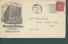 "Kansas City, Missouri Cover, 1922. ""Sexton Hotel"""