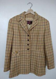 Mulberry Tweed Yellow Checked Jacket UK Size 12