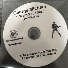 GEORGE MICHAEL 'I WANT YOUR SEX' 2 X FREEMASONS REMIXES RARE NEW UK CD PROMO
