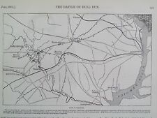 Map Fairfax Virginia The Battle Of Bull Run Civil War 1861 Antique Print