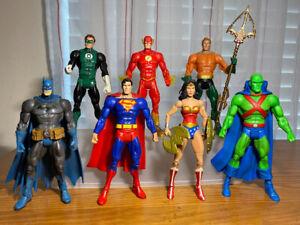 Justice League of America Action Figures DC Superheroes Classics Rebirth 7 Lot