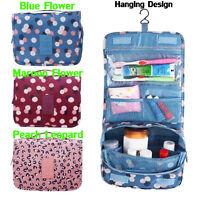 Luxury Ladies Cosmetic Wash Bag Toiletry Travel MakeUp Hanging Folding Organizer
