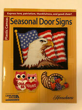 Leisure Arts Seasonal Door Signs Plastic Canvas Patterns Book by Herrschners