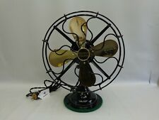 "Antique 9"" Western Electric brass blade restored fan Vintage 1919 list 7600"
