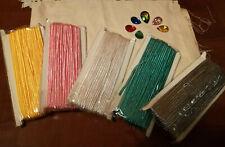 Materiale Per Soutache,cabochon,cavo di diversi colori e finta pelle scamosciata