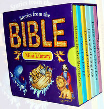 Stories From The Bible Pocket Mini Library 6 Board Books Set, NEW