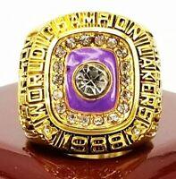 1988 Los Angeles Lakers M.JOHNSON BACK TO BACK Champion Replica Ring Sz 11 W/BOX