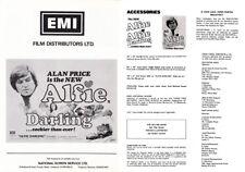 JOAN COLLINS - ALAN PRICE - Original Vintage Pressbook ALFIE DARLING 1974  F#41