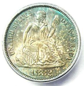 1882 Seated Liberty Dime 10C Coin. Certified ICG MS66+ Plus Grade - $1,000 Value