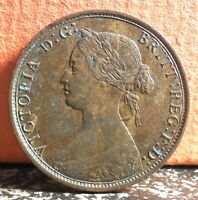 First Yr Red and Brown 1861 Small Rose Bud Nova Scotia Canada Province One Penny