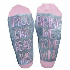 Men Red Women Black Embroidered Cotton Socks Christmas English Letter Leisure