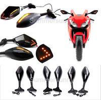 MOTORCYCLE LED TURN SIGNAL MIRRORS FOR 2001 2002 2003 SUZUKI GSXR 600 750 1000