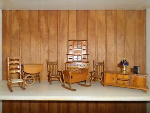Kitchen Set dollhouse miniatures 10 pc  1/12 scale
