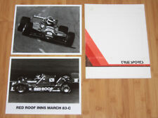 1983 Bobby Rahal TrueSports Red Roof Cosworth March Indy Car Press Kit