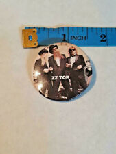 Vintage Zz Top Button Badge Pin Rock & Roll ~ Ships Free