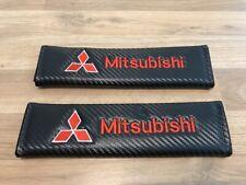2X Seat Belt Pads Carbon Gifts Mitsubishi Outlander ASX Colt Shogun L 200 Mirage