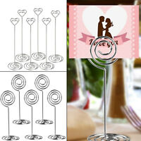 10pcs Metal Place Card Holder Table Number Photo Holder Stands for Wedding Party