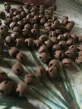 "(96) 6mm Primitive Rusty JINGLE BELLS 1/4 in 1/4"" Christmas Crafts Craft Supply"