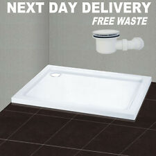 900x700mm Rectangle Shower Enclosure Tray Free Waste Trap FREE NEXT DAY DELIVERY