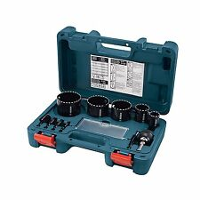 Diamond Grit Hole Saw Set 11pc Pilot Bit Carry Case Power Drill Accessory Tool