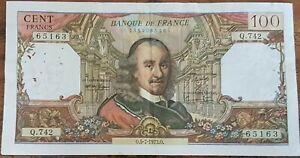 Billet de 100 francs CORNEILLE 5 - 7- 1973 FRANCE Q.742