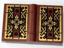 LEGO - Minifig, Utensil Book 2 x 3 w/ Gold Cross Pattern (Sticker) - Brown