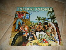 The Village People Go West Band Signed Autographed LP Album Record x6 Members