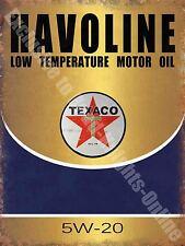 Vintage Garage, Texaco Havoline Motor Oil, Old Advert 48, Large Metal/Tin Sign